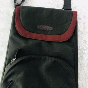 Keen Transport Messenger Shoulder Bag Brown/red